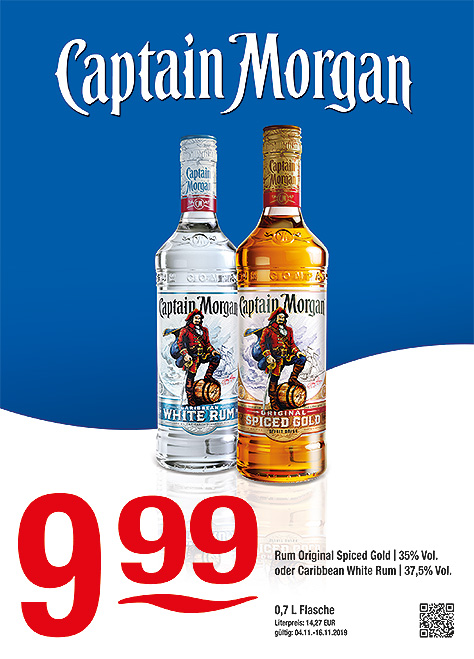 Captain Morgan Original Spiced Gold & Caribbean White Rum