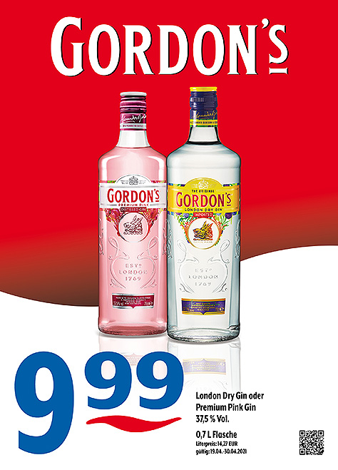 Gordon's London Dry Gin & Premium Pink Gin