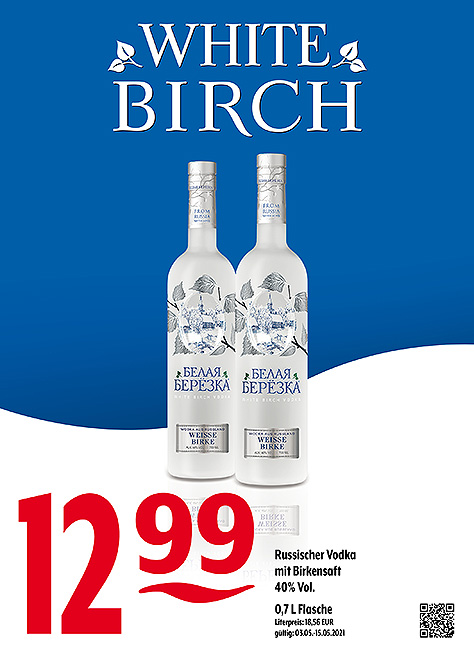 White Birch Vodka mit Birkensaft